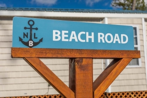 Beach Road Sign