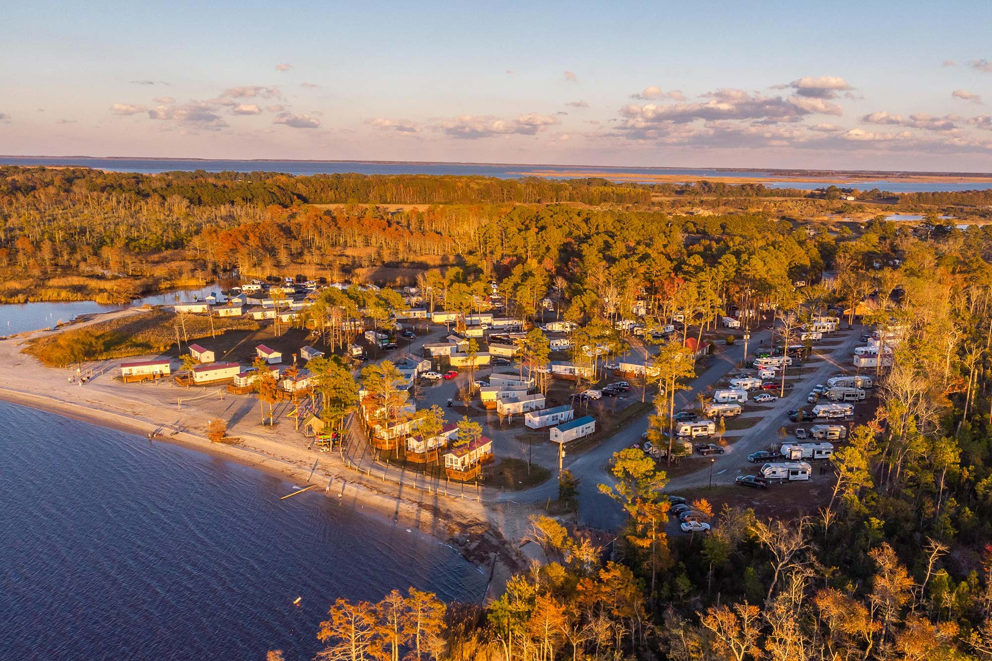 aerial view of North Landing Beach